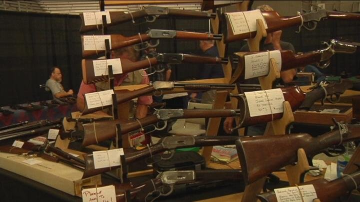 Vendors showcased their guns and antiques for the show.
