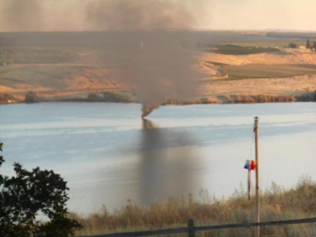 It was an all out rescue mission Tuesday night on the Snake River near Ice Harbor Dam.  According to rescue teams, an elderly couple's boat caught fire around 7 p.m.