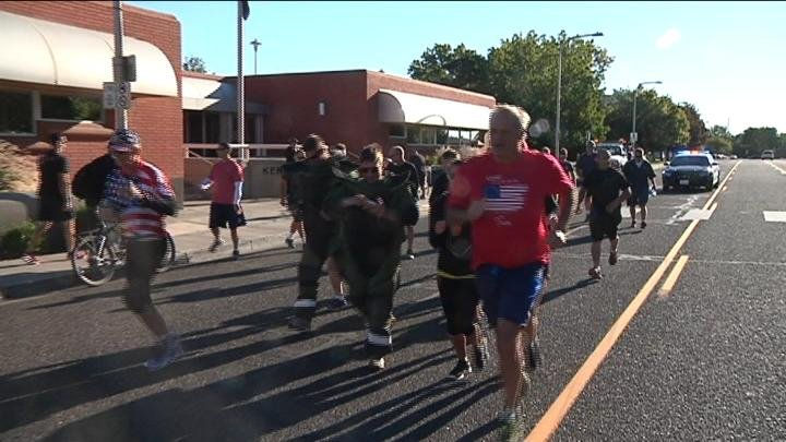As part of Thursday's 9/11 memorial events the Fraternal Order of Police organized their annual unity run in Kennewick.
