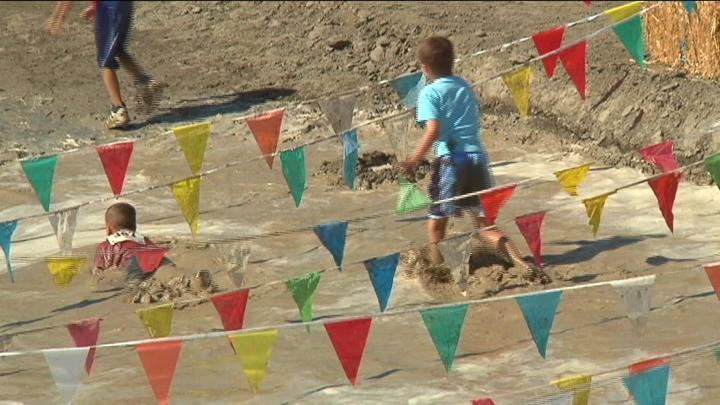 Locals participated in the mud run to support local non-profit organizations.