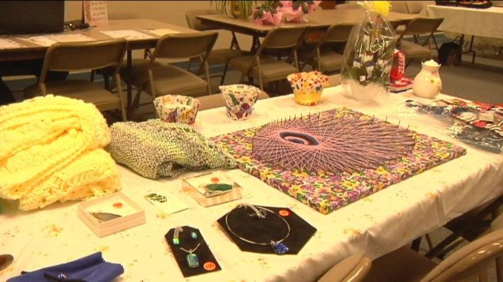 The church hosted their first craft fair to help raise funds for those in need.