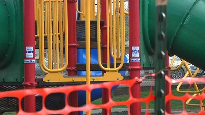A mom in College Place is making some big changes after she found out her daughter had been playing at a playground that's not technically on the elementary school campus.