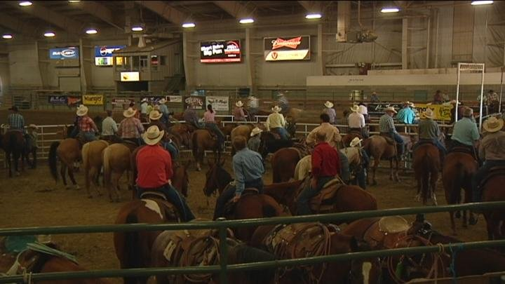 The roping competition attracted hundreds from the region to compete.