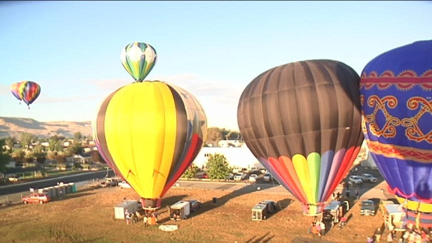 If you were in Prosser Friday morning, you might have seen some big balloons up in the sky.