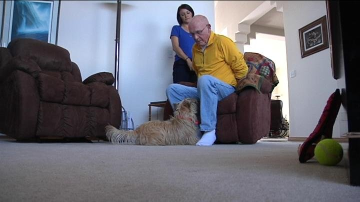 A local man with hearing loss can rest easy now with a new, furry companion by his side.