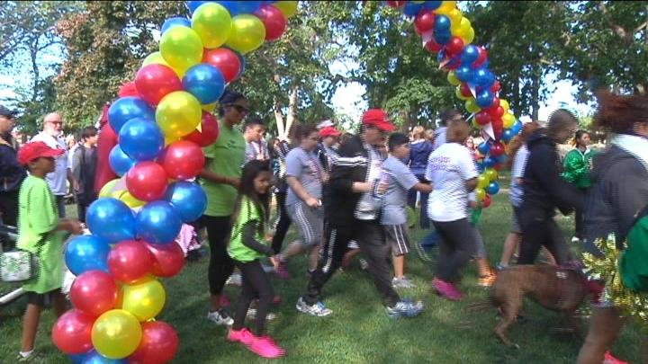 Nearly 400 people participated in this year's walk.