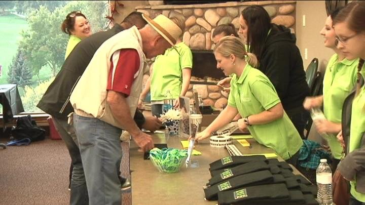 Golfers signed up to play in the tournament to support the Tri-Cities Pregnancy Network.