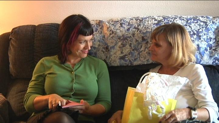 Debra Powers and Christin Hollcroft reunited Saturday after being separated 41 years ago.
