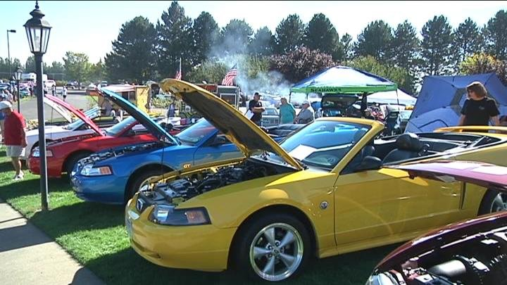 200 Mustangs were on display for people to look at.