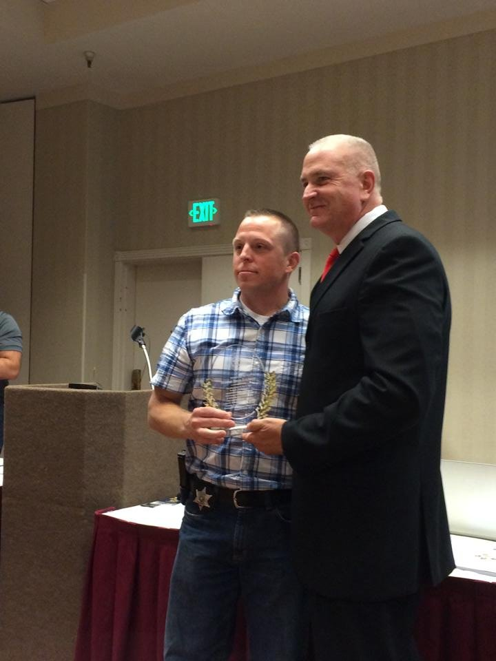 A Benton County Sheriff's Deputy was honored this weekend for his bravery during a standoff this past summer in Pasco.