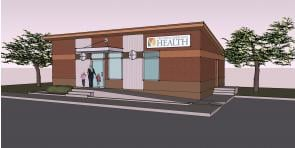 A School Based Clinic broke ground early Wednesday afternoon by Amistad Elementary School.