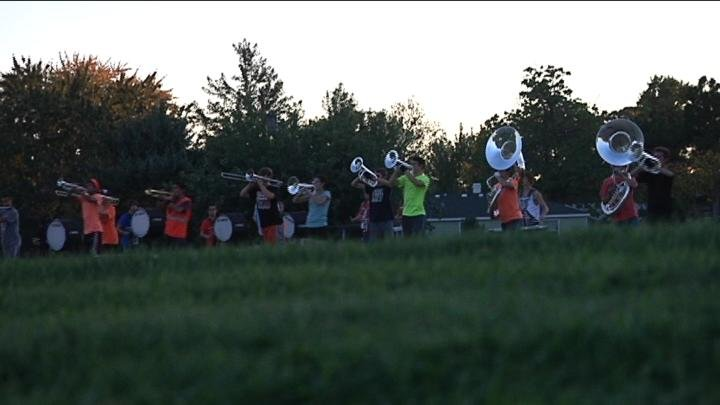It is about 5:30 p.m. On Thursday and marching band practice at Kennewick High School is well underway. But they are fighting the clock because once the sun goes down, practice on the field is over.