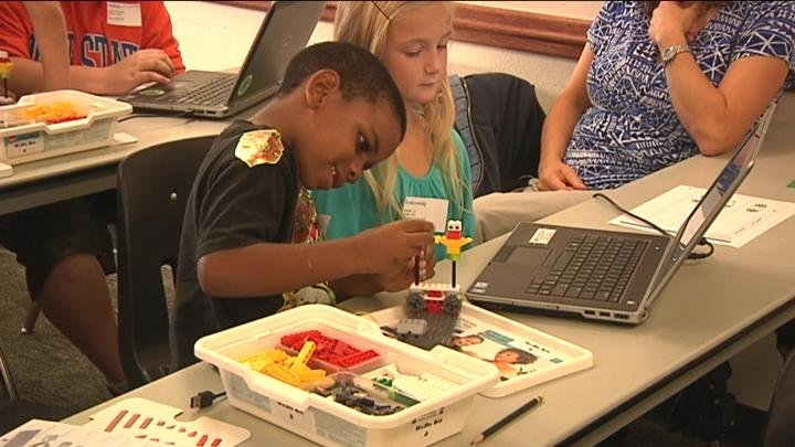 Students built robots and launched rockets to learn more about science and engineering.