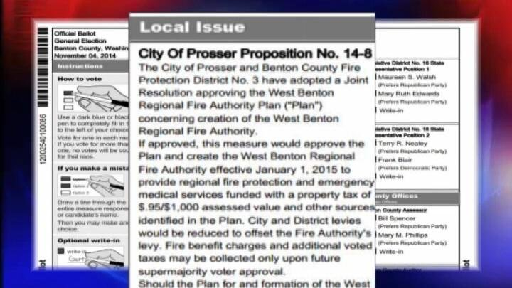 Some voters in one Benton County precinct may have to send in their ballots again. It turns out that one of the proposed measures was actually missing from their ballots.