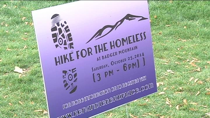 Hikers hiked Badger Mountain to raise funds for a local shelter that helps homeless people.