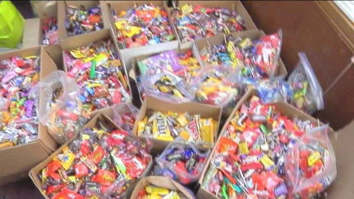 The candy kids drop off after Halloween will be sent to troops overseas.