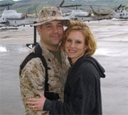 Sgt. Travis Pfister of Richland, WA pictured in 2005 with wife Jessica (SOURCE:  Purple Foxes)