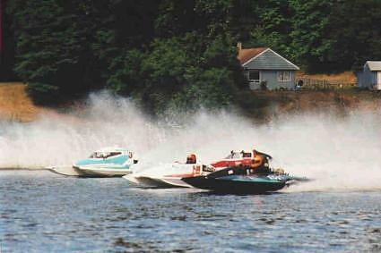 Brian Perkins, lane 2, circa 2002 in one-litre race in Yelm, WA