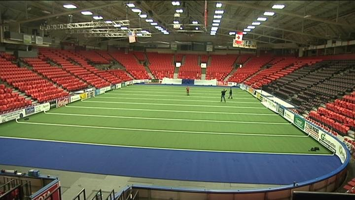 The new turf is expected to be finished by Wednesday.