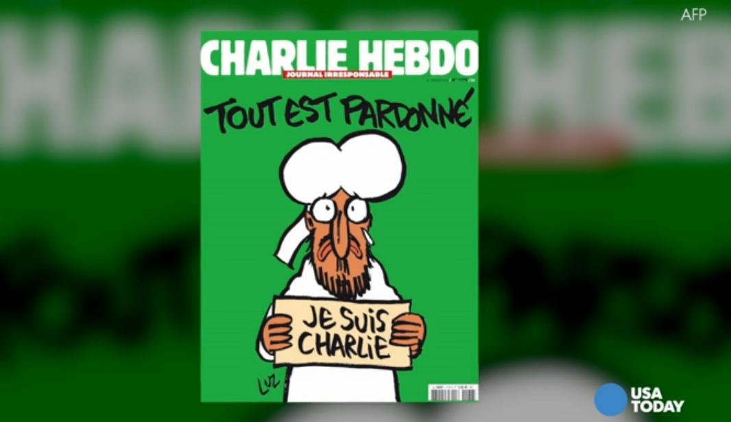 Charlie Hebdo releases first issue after attacks.