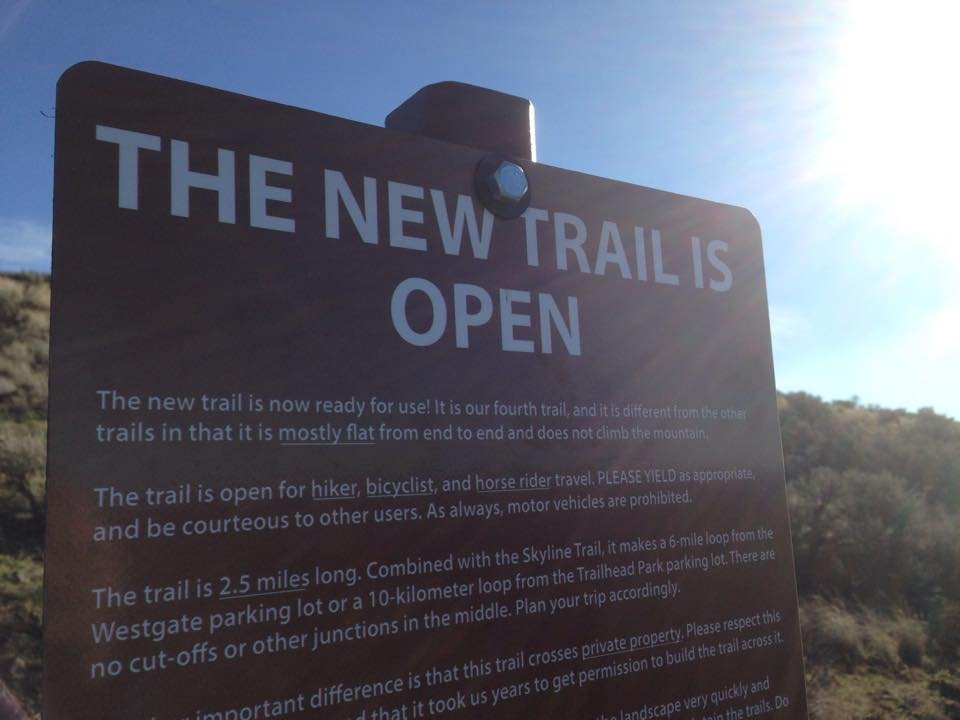 A new trail opened to the public Friday on Badger Mountain.