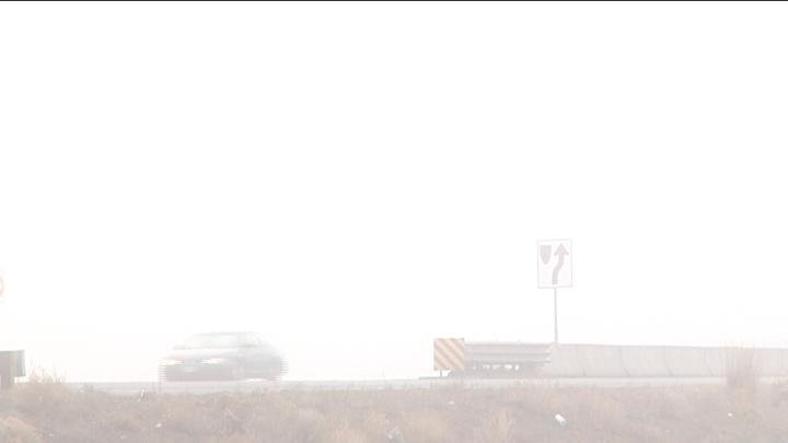 Troopers warned drivers to slow down and to also watch for pedestrians in foggy conditions.