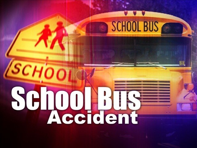 A car in Pasco hit a school bus that was transporting kids Tuesday morning.