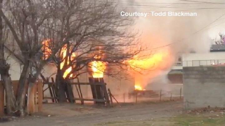 Franklin County, Kennewick and Walla Walla Fire Departments helped Pasco Fire put out the blaze at the house.