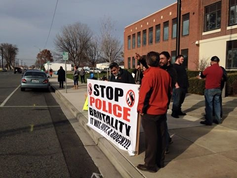 Protesters gathered Friday to prepare for Saturday's demonstration.
