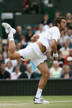Clive Brunskill/Getty Images - Paul-Henri Mathieu had just two aces to Andy Roddick's 19.
