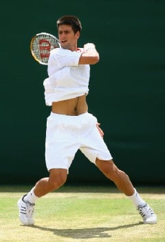 Ryan Pierse/Getty Images - Novak Djokovic paced 39 winners, including 11 aces, to 36 unforced errors.