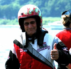 Steve David gives the thumbs up - Photo: Jim Simpson
