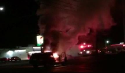 Electrical problems lead to SUV fire.