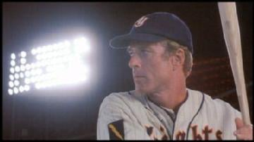 With a rocket arm and incredible power, New York Knight Roy Hobbs was a shoe-in for an outfield spot.