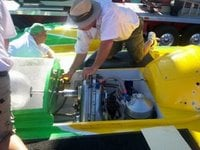 U13 crew works to fix the steering linkage