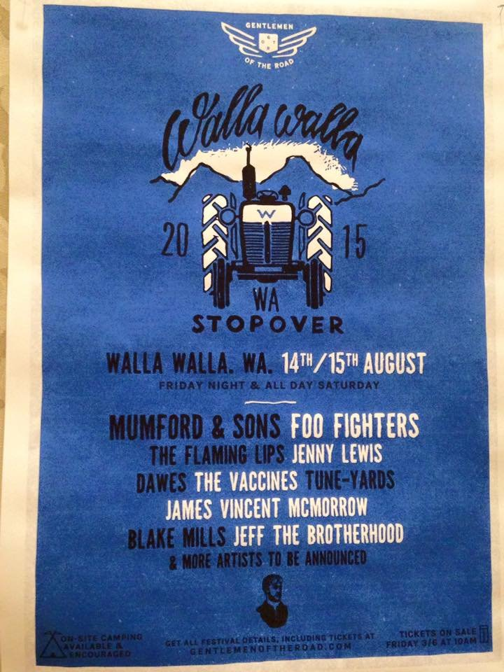 Mumford & Sons, Foo Fighters & More Coming to Walla Walla Stopover Concert