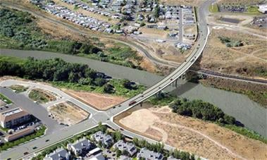 This preview shows what the Duportail Bridge would look like if the transportation package is approved.