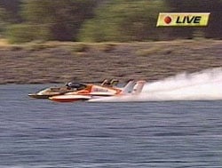 U-2 hull, running as the U-2.25 in 2006, battles the U-21 on KNDU-TV in the Meyers' Auto Tech Challenge