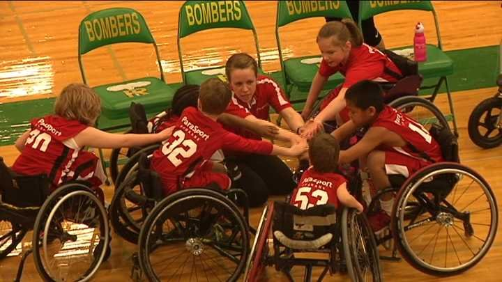 """It was a """"Clash At The Columbia"""" Saturday as a wheelchair basketball tournament took over the Richland High School gymnasium."""