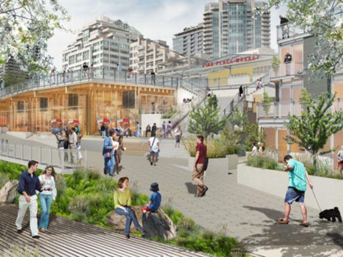 Miller Hull Partnership, Pike Place Renovation Sketch