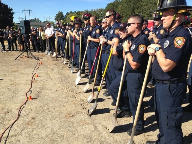 This afternoon the kennewick fire department broke ground on a new fire station