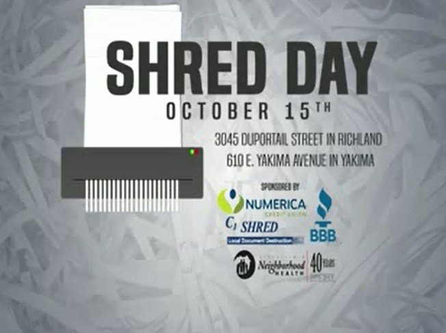 The shred event runs from 5 a.m. to 6:30 p.m. You will also get the chance to meet some of our news team, who will be helping out.