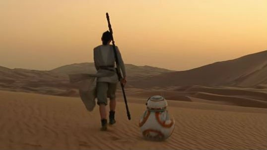 The trailer for Star Wars: The Force Awakens premiered Monday.