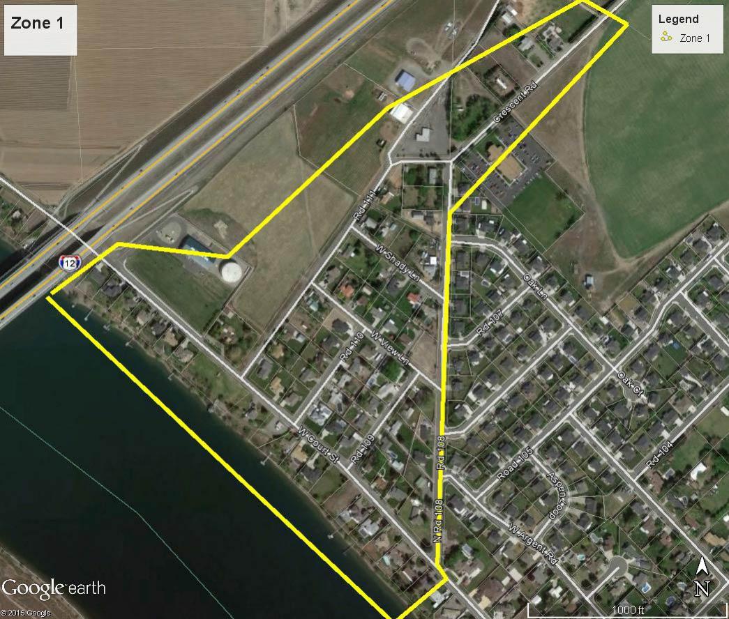 City of Pasco Water Line Flushing Program Zone 1