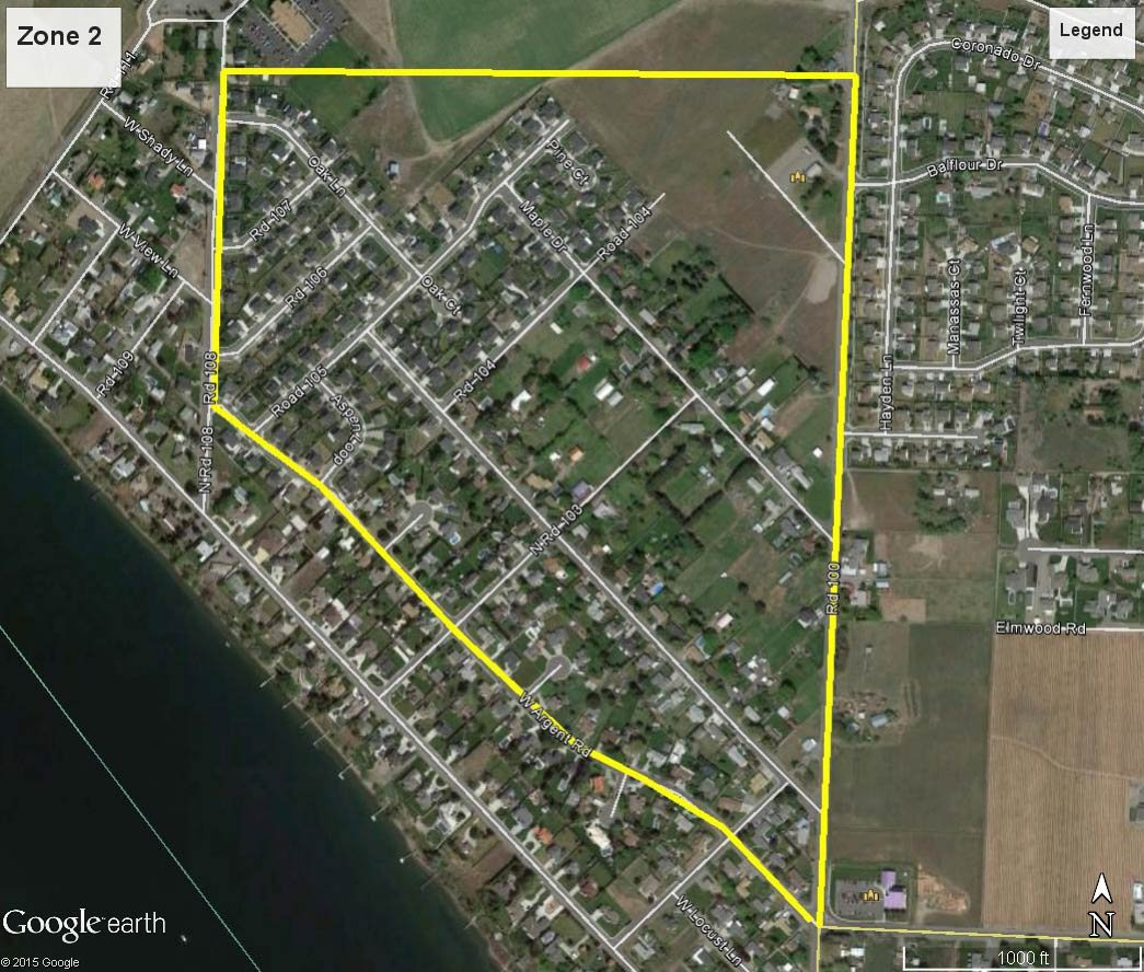 City of Pasco Water Line Flushing Program Zone 2