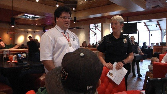 Guests donated while they ate at Red Robin.