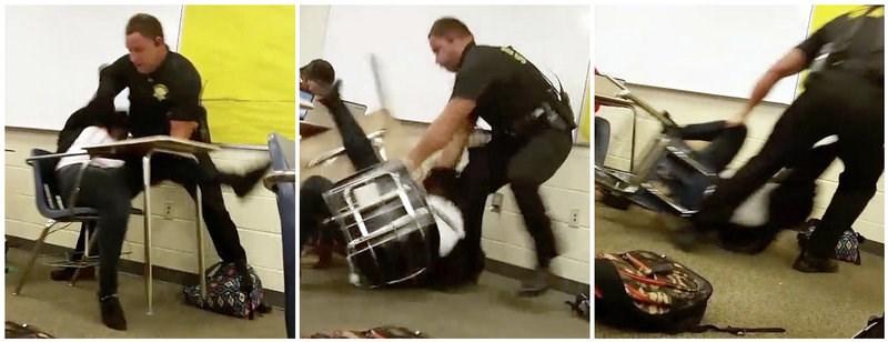 Sheriff fires school officer after class arrest