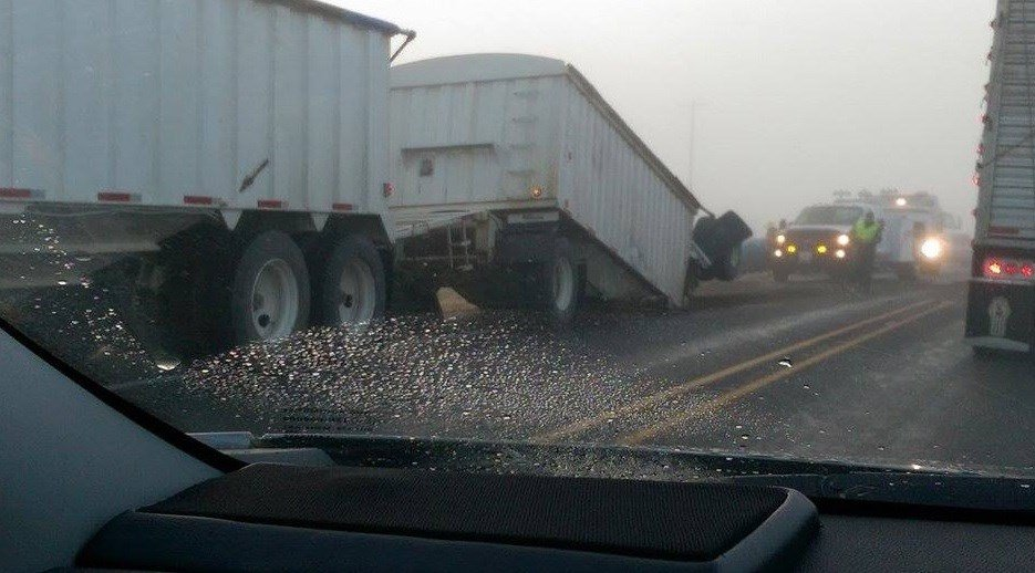 WSP troopers cited the semi driver with failure to yield. Drugs or alcohol did not play a factor in the crash.