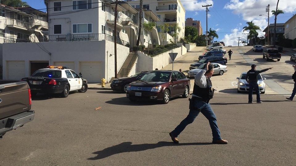 Police say man is firing shots inside San Diego complex