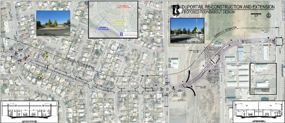 Planned roundabouts on Duportail Street